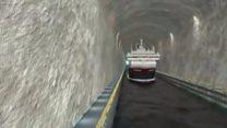 Норвегія прорубає у скелі суднохідний тунель