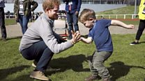 Prince takes on 'little Harry' at Invictus Games trial