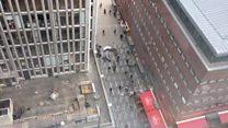 Stockholm crowds flee truck crash scene