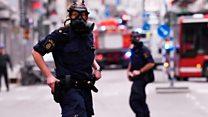 Нападение в центре Стокгольма: первые кадры