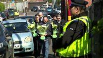 Family of murder victim visit scene