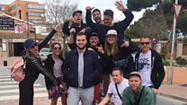 Birthday group take stranger on holiday