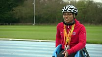 Young paralympian juggles school and training