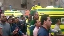 At the scene of Egypt church blast