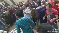 مصر: اللحظات الأولى بعد تفجير كنيسة مارجرجس في طنطا