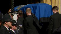 London attack officer lying in rest