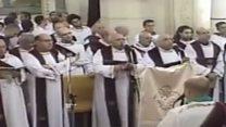لحظة وقوع الانفجار في كنيسة مار جرجس بطنطا