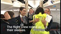 機上で赤ちゃん誕生 介助した乗務員が感動語る