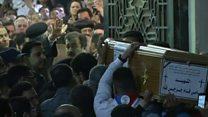 تشييع جثامين ضحايا كنيسة مارجرجس في طنطا