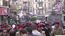 په مصر کې د پروني برید قربانیانو جنازې کېږي
