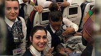 विमान में जन्मा बच्चा
