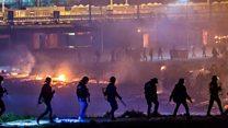 Fransa'daki mülteci kampında kavga ve yangın