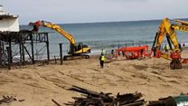 Historical pier dismantled after storm