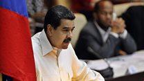 Protesters pelt Venezuela's Maduro