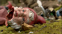 'Mindless thugs' smash up gnomes at park