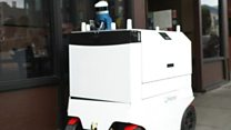 Robots deliver food in San Francisco