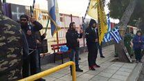 Protests over Syrian children in Greek schools