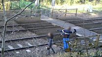 CCTV shows 'shocking' railway trespassing