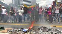 تصویرهایی از اعتراضها در ونزوئلا بدون صدای گزارشگر