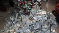 Inside the Nigerian flat full of cash