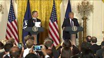 دیدار رئیس جمهور امریکا و دبیرکل ناتو