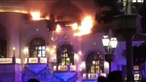 Firefighters tackle Bellagio blaze in Las Vegas