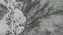 """Así se vio desde el aire la explosión de la GBU-43/B, """"la madre de todas las bombas"""", en Afganistán"""
