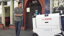 روبوت لتوصيل الطلبات للمنازل