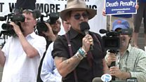 Depp protests against Arkansas executions