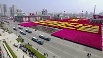 N Korea displays its military might