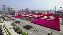 Así fue el impresionante desfile militar donde Corea del Norte anunció estar preparada para una guerra nuclear