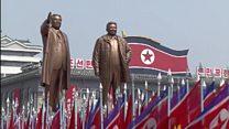 کره شمالی تواناییهای موشکی چشمگیری را در رژهای نظامی به نمایش گذاشت