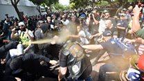 トランプ氏の納税記録を 公表求め全米でデモ