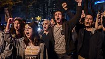 Protesters rally after Erdogan victory