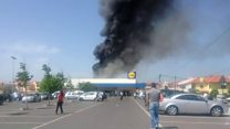 Plane crashes outside supermarket in Portugal