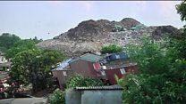 آوار کوه زباله بر روی مساکن مسکونی دست کم 28 نفر را کشت