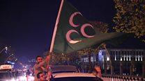 جشن موافقان تغییر ساختار سیاسی ترکیه