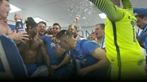 Brighton players and fans celebrate