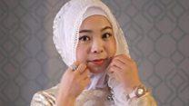 चीन की हिजाबी लड़की