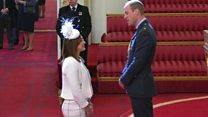 Ennis-Hill receives Damehood from Prince William