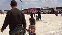 استئناف عمليات اجلاء البلدات الأربعة سوريا