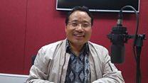 नेकपा माओवादी केन्द्रका नेता वर्षमान पुनसँग