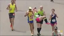 Omagh firefighter carries exhausted runner over marathon finish line