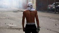 Venezuela'da hükümet karşıtı gösteri