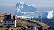 Huge iceberg looms over Canadian coast