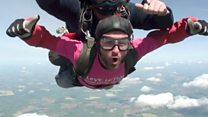 Football manager's charity skydive