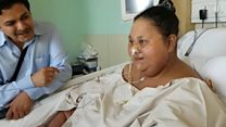 'Heaviest woman' loses half her weight