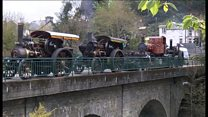Manx steam convoy stuns onlookers
