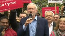 Corbyn makes election trip to Cardiff