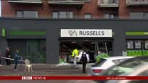 Car crashes into shop window in Belfast